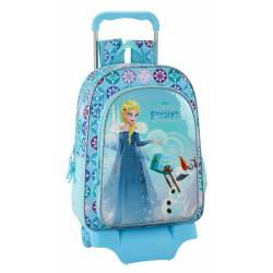Mochila escolar Frozen 34x27x10 cm Poliéster Olaf S Adventure con carro
