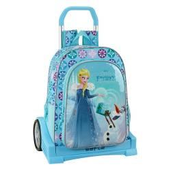 Mochila escolar Frozen 43x33x15 cm Poliéster Olaf S Adventure con carro