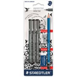 Rotulador color Negro Staedtler 308 Calibrado micrometrico Blister