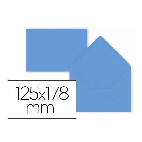 Sobre B6 Liderpapel 125x178mm 80g/m2 Azul Oscuro Pack de 15 unidades