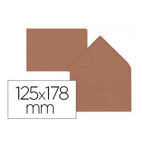 Sobre B6 Liderpapel 125x178mm 80g/m2 Marrón Pack de 15 unidades