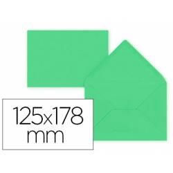 Sobre B6 Liderpapel 125x178mm 80g/m2 Verde Pack de 15 unidades