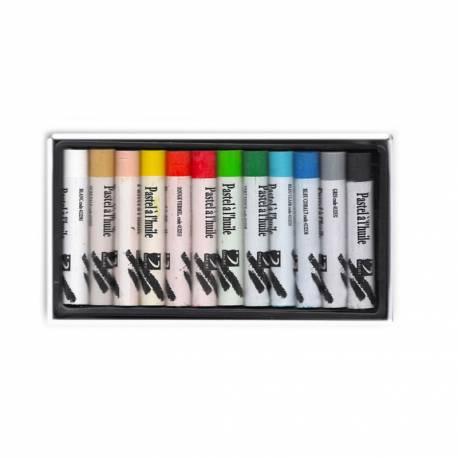 Lápices Pastel Óleo Dalbe Caja 12 Colores Surtidos