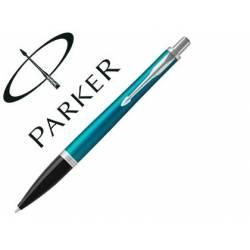 Bolígrafo Parker Urban Premium Ebony CT Tinta Azul Punta 1mm Color Turquesa