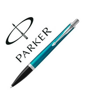 Bolígrafo Parker Urban Premium Ebony CT Tinta Azul Punta 1mm Turquesa