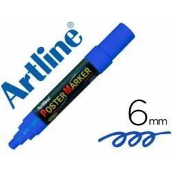 Rotulador Artline Poster Marker EPP-6 Punta Redonda Trazo 6mm Color Azul