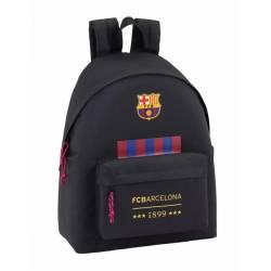 Mochila escolar del F.C. Barcelona 42x33x15 cm Negro