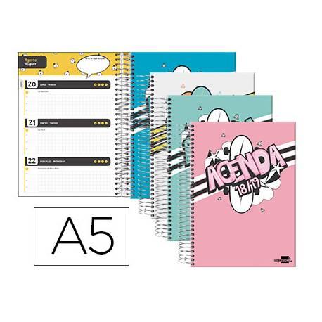 Agenda Escolar 18-19 Semana Vista DIN A5 Espiral Bilingüe Liderpapel Basic No se puede elegir color
