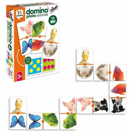 Juego didáctico a partir de 3 años Domino photo animals Diset