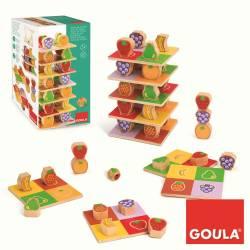Juego didáctico a partir de 1 años Torre de frutas Goula