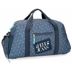 Bolso de viaje 55x27x20 cm de Poliester Pepe Jeans Olaia Azul
