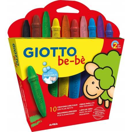 Lapices Cera Giotto Super Bebé Caja 10 Colores Surtidos + Sacapuntas