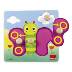 Puzzle de 1 a 4 años Mariposa Goula