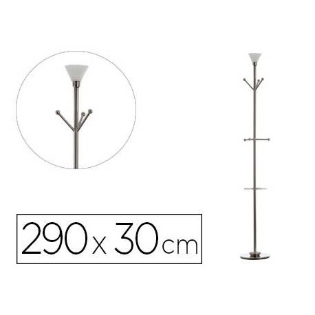 Perchero metálico de pie Archivo 2000 con lámpara