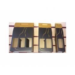 Bolsa botellero para regalo de Arguval Negro/Oro