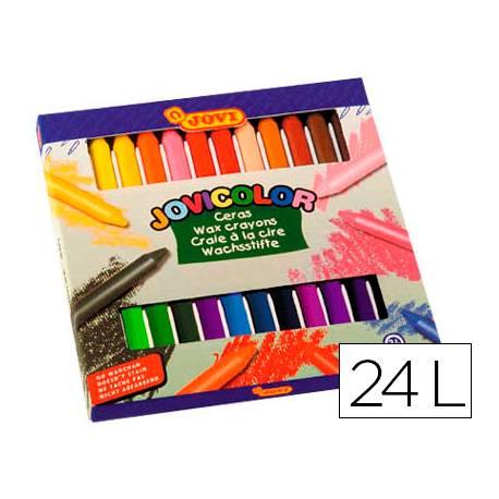 Lapices cera Jovi Jovicolor caja de 24 unidades colores surtidos