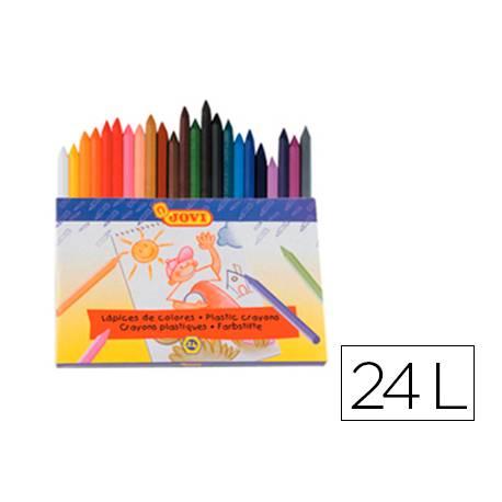 Lapices cera Jovi caja de 24 unidades colores surtidos