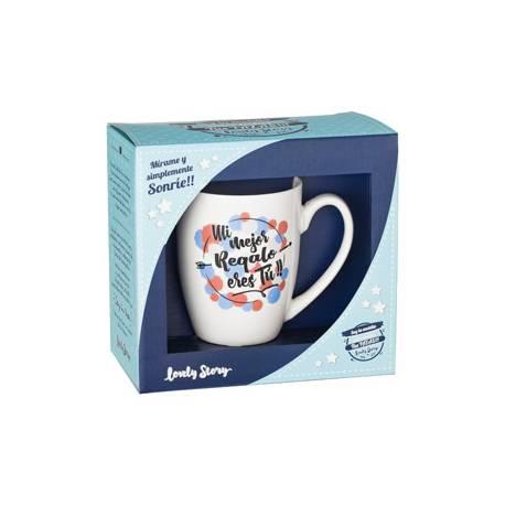 Taza cerámica doble cara Mi mejor regalo eres tu Lovely Story