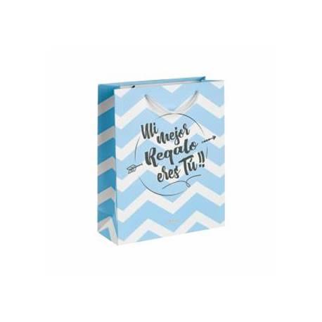 Bolsa de regalo pequeña 18x26 mi mejor regalo eres tu