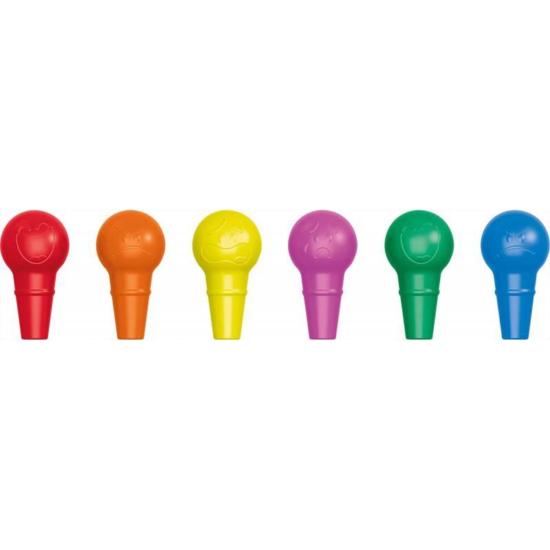 Lápices de cera Maped Color Peps Baby Crayon 6 colores surtidos (151825)