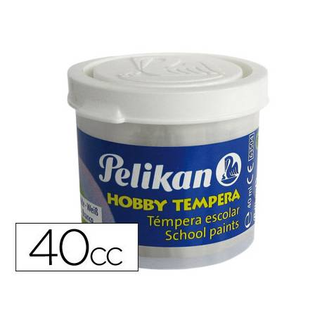 Tempera Pelikan color blanco 40 cc
