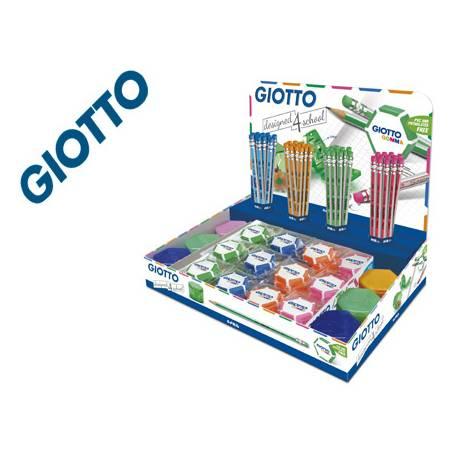 EXPOSITOR GIOTTO MATITA Y GIOTTO GOMMA 200X140X210 MM 48 LAPICES DE GRAFITO MATITA HB CON GOMA 48 GOMAS