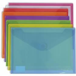Carpeta sobre con velcro Folio + Grafoplas azul 10 unidades