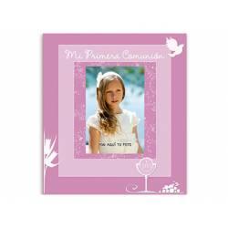 Libro de Recuerdo Comunion Arguval Foto Personalizable Rosa