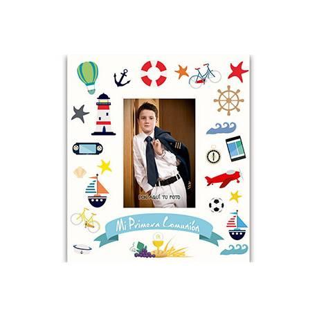 Libro de Recuerdo Comunion Arguval Foto Personalizable Niño con Detalles
