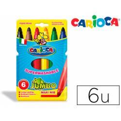 Rotulador Carioca Jumbo grueso lavable caja 6 rotuladores