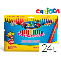 Rotulador Carioca Joy finos lavables caja 24 rotuladores