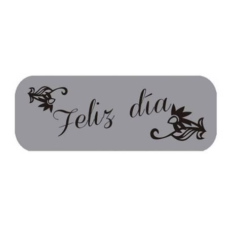 Etiqueta para regalo Arguval Plata Feliz dia Rollo de 250 unidades