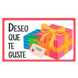 Etiqueta para regalo Arguval Deseo que te guste Rollo 250 unidades Modelo 97
