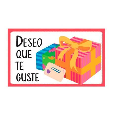 Etiqueta para regalo Arguval Deseo que te guste Rollo de 250 unidades Modelo 97