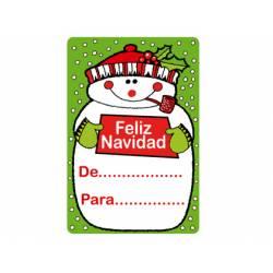 Etiqueta para regalo Arguval Muñeco de nieve Rollo de 250 unidades Catalan Modelo 113