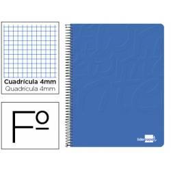 Cuaderno Espiral Liderpapel Write Tamaño Folio Cuadrícula 4 mm Azul