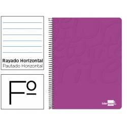 Cuaderno Espiral Liderpapel Write Tamaño Folio Rayado Horizontal Color Rosa