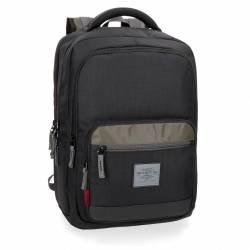 """Mochila para portátil Pepe Jeans 44x31x15 cm de Poliéster Brand 15,6"""" doble compartimento"""