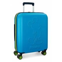 Maleta de cabina 55x40x20 cm Rigida Mickey Colored de color Azul